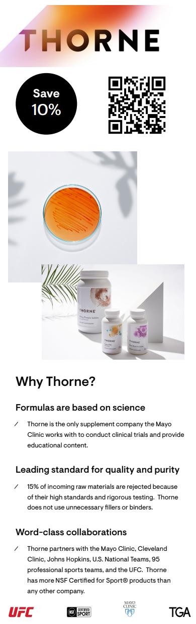 thorne discount